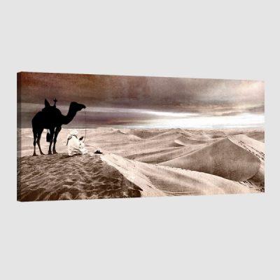 tableau oriental desert-marron