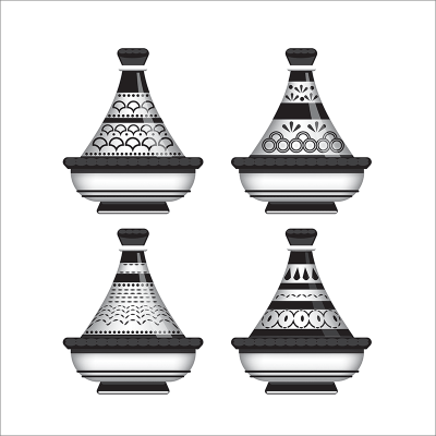 Poster arabe-tajine déco-noir
