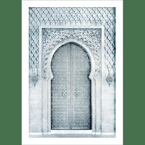 Poster arabe-porte orientale-noir et blanc