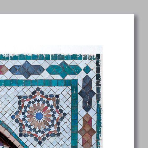 Poster arabe portes mosaique-détail