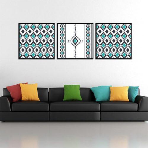 Poster oriental berbere triptyque