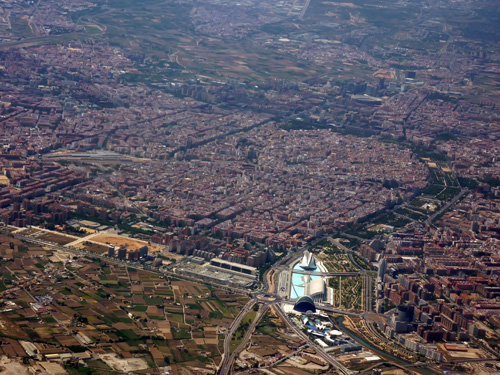 Valencia from the air