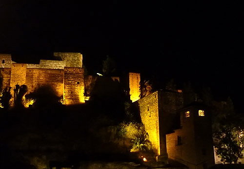 Castillo de Gibralfaro - night