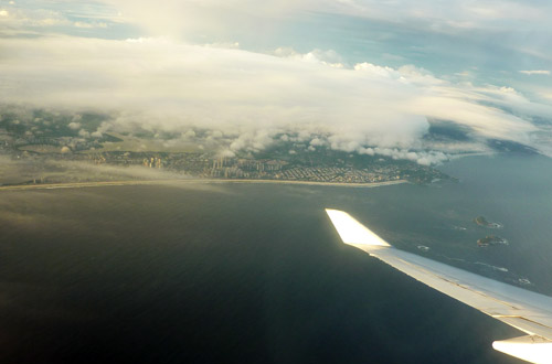 Rio de Janeiro - Ipanema on the left, Copacabana on the right
