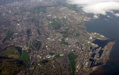 Edinburgh & Leith from the air