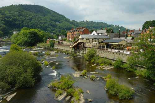 Town and Railway Station of Llangollen, Wales