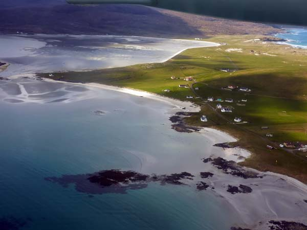 Flight to Barra - Airport is the bay top centre