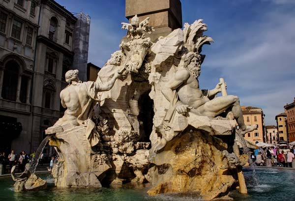 Piazza Navona - The Four Rivers Fountain