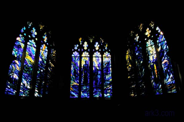 Gloucester Cathedral - Blue Stained Glass