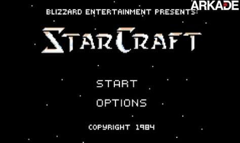 Como seria StarCraft na era dos games 8-bits?