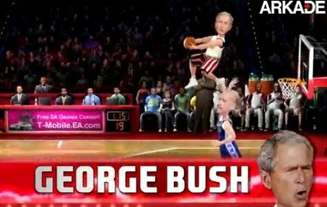 Trailer de NBA Jam mostra Obama contra Bush nas quadras
