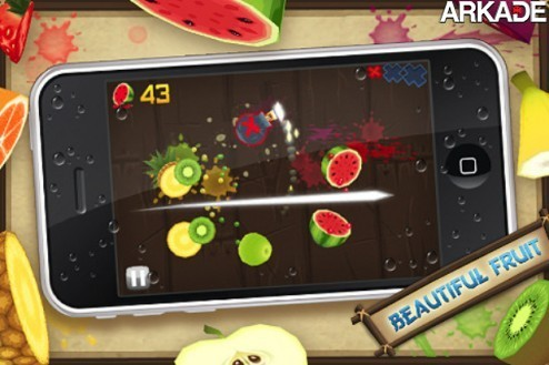 videos Fruit Ninja, jogo para celulares, ultrapassa 20 milhões de downloads