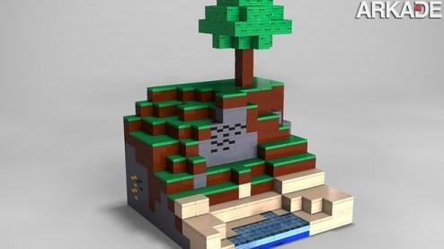 Bloquinhos reais: Minecraft vai virar kit de montar oficial da Lego