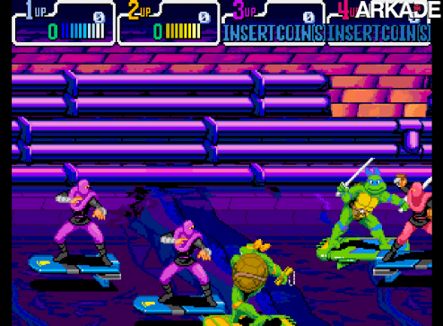 Clássicos - Teenage Mutant Ninja Turtles IV: Turtles in Time (arcade)