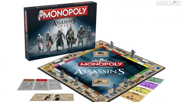 Conheça o Monopoly baseado em Assassin's Creed e Zelda