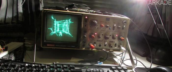 Já pensou que louco jogar Quake em um osciloscópio?