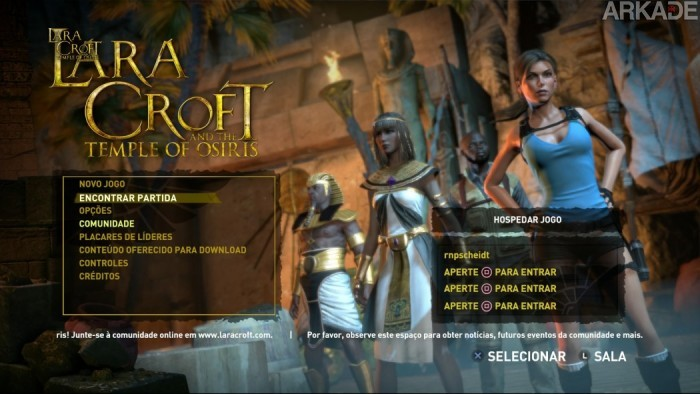 Análise Arkade: explorando tumbas com os amigos em Lara Croft and the Temple of Osiris
