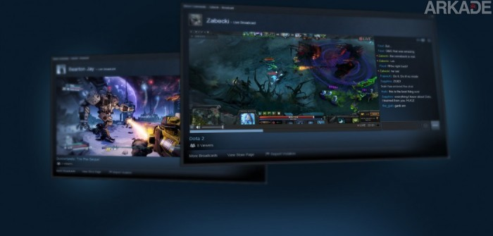 Valve entra no mercado de streaming com o lançamento de Steam Broadcasting