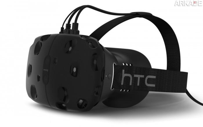 Este é o Vive, aparelho de realidade virtual da Valve que começa a ser vendido no fim do ano