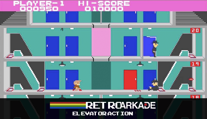 RetroArkade: Enfrentando espiões nos prédios de Elevator Action