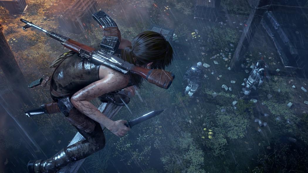 Lara Croft se esgueira pelas sombras em novo gameplay stealth de Rise of the Tomb Raider