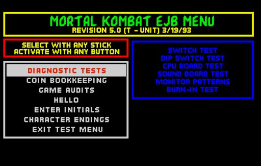 Mortal Kombat tem mais segredos sim, vem ver o menu secreto do jogo de 1992
