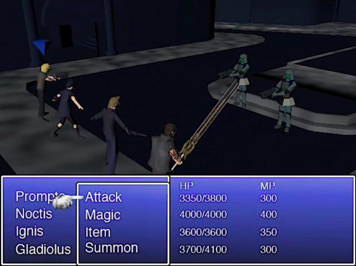 Este vídeo mostra como seria Final Fantasy XV rodando em um PSOne