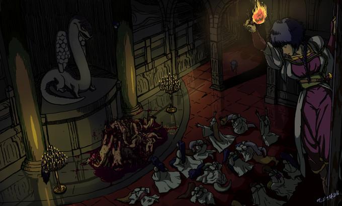 Shrine Of Orm é um dungeon crawler ambientando em um cenário de horror
