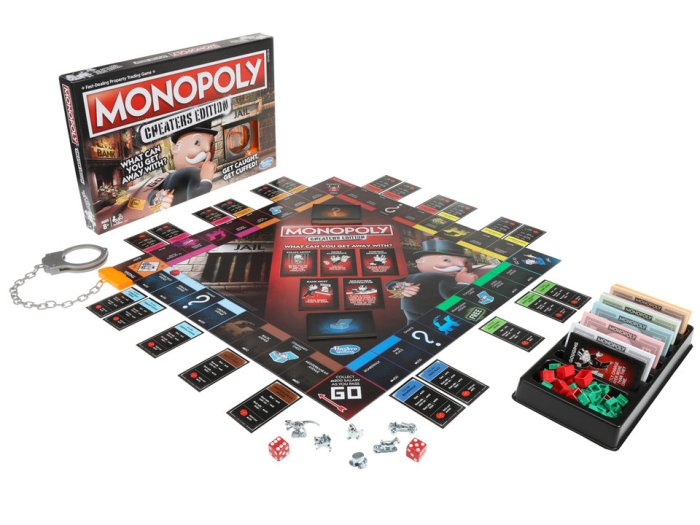 Hasbro lançou uma edição para trapaceiros de seu Monopoly