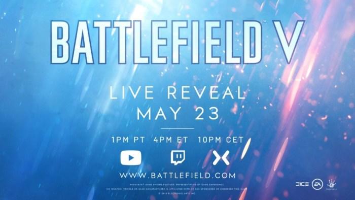 EA anuncia oficialmente Battlefield V, game será apresentado no dia 23 de maio