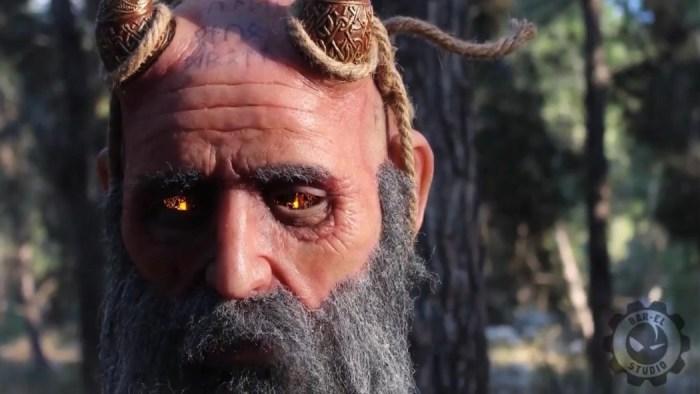 God of War: a cabeça animatrônica do Mimir é a coisa mais legal que você vai ver hoje