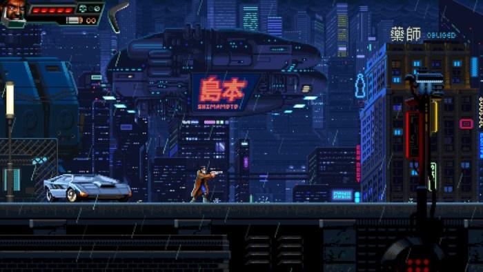 Análise Arkade: Huntdown traz ótimos tiroteios cyberpunk com cara de jogo de arcade