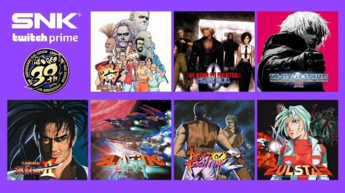 SNK oferecerá sete games gratuitamente para assinantes do Twitch Prime