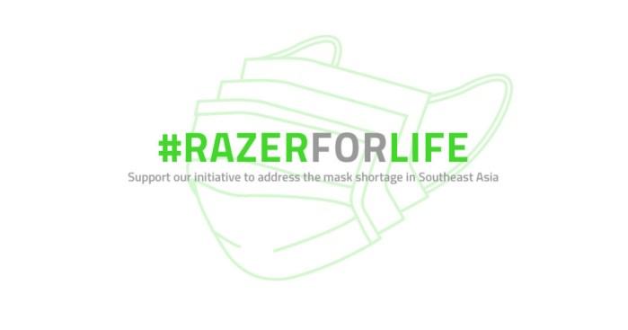 Razer lança campanha de doação de máscaras: basta jogar e doar pontos Razer Silver