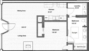 Julia Dean apartment floor plan