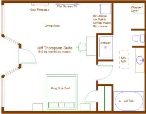 Floor plan of Thompson suite