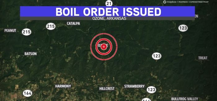 Lightning Strike, Mysterious Pressure Loss Take Out Ozone's Water Twice In 24 Hours; Boil Order Issued