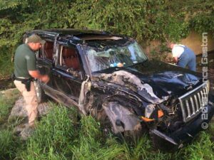 Rollover Crash Into A Creek – MONTGOMERY COUNTY