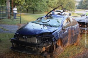 Vehicle Goes Airborne..Rollover Crash On Hwy. 270E – GARLAND COUNTY