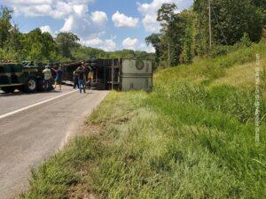 18 Wheeler Rollover Crash On Hwy. 270 Near Joplin – MONTGOMERY COUNTY