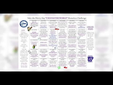 VIDEO: Homeless 30-day challenge