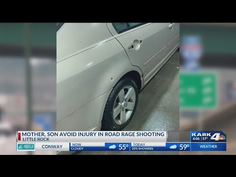 VIDEO: Mother, son avoid injury after road rage shooting in Little Rock