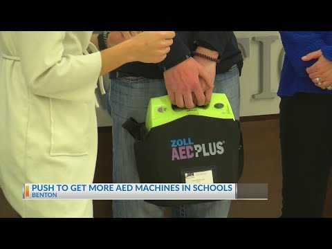 Watch: Benton baseball players life saved by AED machine, now helping get more in schools