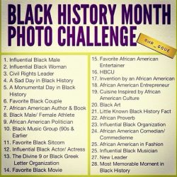 Black History Month Photo Challenge: Week 1