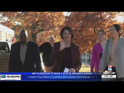 Watch: Amy Klobuchar to travel to North Dakota, Oklahoma and Arkansas on Sunday, February 23