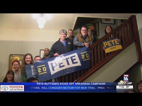 Watch: Pete Buttigieg kicks off Arkansas campaign