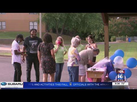 Watch: Graduation drive-thru for Bryant teen