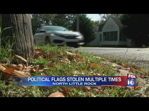 Watch: Flags stolen in NLR neighborhood