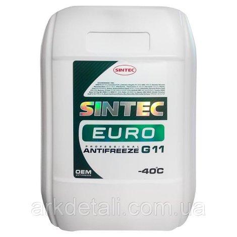 Антифриз EURO G11, (-40), 10л, зел, Sintec