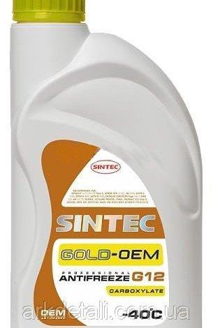 Антифриз GOLD G12, (-40), 1л, желт, Sintec